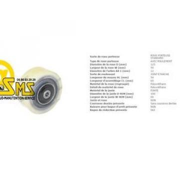LINDE FENWICK 0039903517 ROUE GALET STABILISATRICE 125 50 65 12 mm TRANSPALETTE