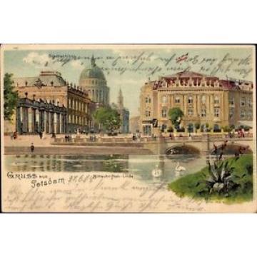 Litho Potsdam, Brücke, Stadtschloss, Bittschriften Linde - 913135