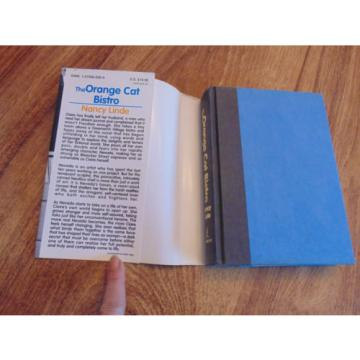 The Orange Cat Bistro - by Nancy Linde FIRST PRINTING July 1996 - HC Novel w/ DJ