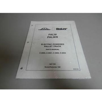 NEW Linde PALW & PALWR Electric Pallet Jack Truck Parts Book Catalog Manual