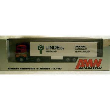 "AWM 56212: MB-Actros Sattelzug ""Linde bv, Denekamp"", Kunststoff-Modell in H0"