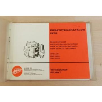 Linde Verstellpumpe PV 105 T  für CLAAS Mähdrescher Ersatzteilkatalog 1975