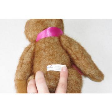 "Sadie Bear Linde Lane Tea Party Sparkly Rust Brown Teddy Plush Stuffed Toy 12"""