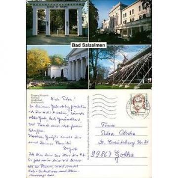 Postkarte38656 - Bad Salzelmen - 4 Ansichten - Eingang Kurpark - Kurhaus - Linde