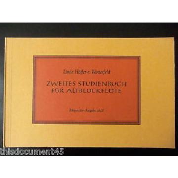 Zweites Studienbuch für Altblockflöte - Linde-Höffer - von Winterfeld