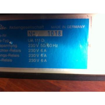 Kühlstellenregler Linde UA 111 D Regler