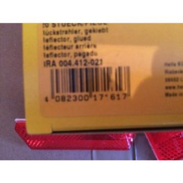 Hella Rückstrahler selbstklebend rot 8RA 004 412-021 Dethleffs Wohnwagen 70x31mm