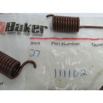 NEW LOT OF 4 BAKER-LINDE BRAKE RETURN SPRING 111102