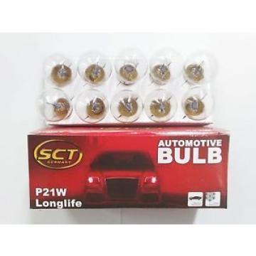 100 Stück SCT Glühlampe Glühbirne Kugellampe  12V 21W BA15s  B4398a