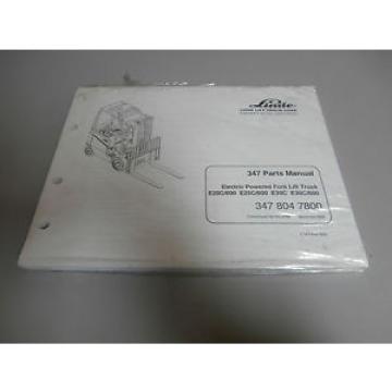 NEW Linde 347 Forklift Fork Lift Truck Parts Catalog Manual