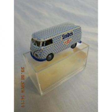 Brekina 37505 VW T1 Van White/Blue Linde's 1:87 HO Scale