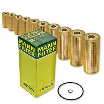 10x HU 726/2x Ölfilter/ Patronenfilter/ Filtereinsatz von MANN-FILTER HU726/2x