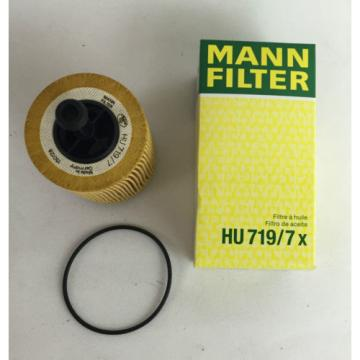2 x MANN-FILTER MANN ÖLFILTER HU719/7X MADE IN GERMANY AUDI VW SKODA OILFILTER