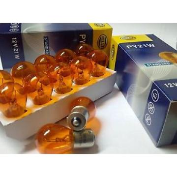 20 Stück 21W Glühlampe Blinkerlampe PY21W 12V BAU15s Blinker Orange Gelb Hella