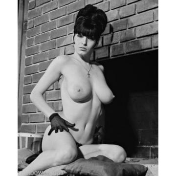 E410 TWO 8x10s BUSTY Pinups, JOYCE GIBSON & LINDE FREDERIX! (NUDES)