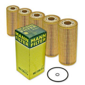 5x HU 726/2x Ölfilter/ Patronenfilter/ Filtereinsatz von MANN-FILTER HU726/2x