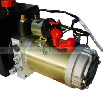 12 Volt 10 Quart Metal Tank Hydraulic Power Pump Pack Dump Trailer Car Lifting