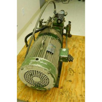 Hydraulic Power Pack w/ Lincoln Motor 20 HP 1750 RPM 220 3 HP w/ Vickers Valve