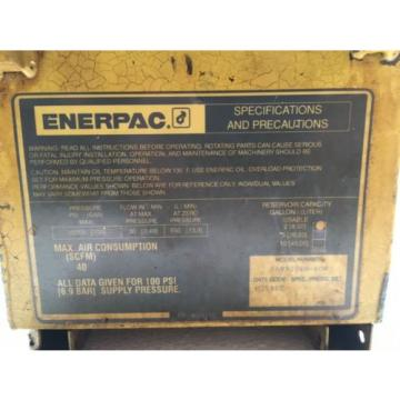 Enerpac PAM9208N-KOR Air Operated  Hydraulic Pump/Power Pack 700 BAR/10,000 PSI