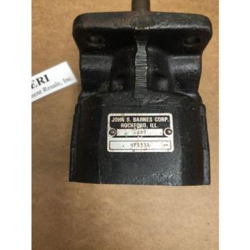 John S. Barnes Corp. 6294 Hydraulic Gear Pump. 4F653A.  Loc 33A