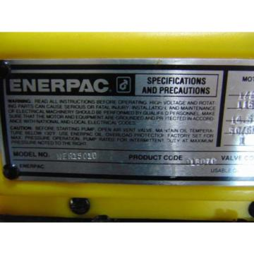 Enerpac Electric Hydraulic Pump WER1501D Advance Retract With Remote Control