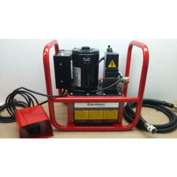 Burndy EPAC 10 Electric Hydraulic Pump w/ Remote Foot Pedal and Hose 10000 Psi