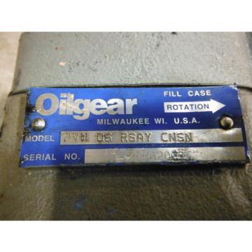 OILGEAR HYDRAULIC PUMP PVW 06 RSAY CNSN ~ USED