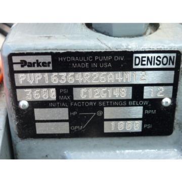 60-GALLON HYDRAULIC POWER UNIT, 15 HP HYUNDAI MOTOR, PARKER PUMP, HEAT EXCHANGER