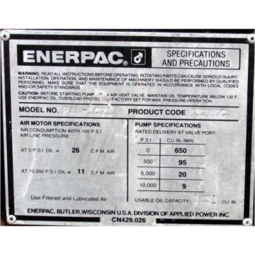 ENERPAC PAM-1021 AIR HYDRAULIC PUMP