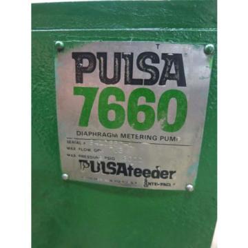 NEW PULSAFEEDER PULSA 7660 3.7GPH 2HP HYDRAULIC DIAPHRAGM METERING PUMP D512862