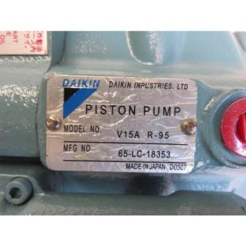NEW DAIKIN Piston Pump V15A R-95 65-LC-18353 + Cylinder Block PV90R100 NIB