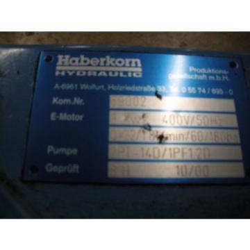 Haberkorn 59002 Hydraulic Pump  3kw 400v  5.5amp  Wien Motor