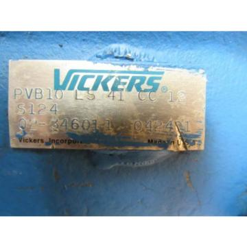 VICKERS HYDRAULIC PUMP PVB10 LS 41 CC 12 S124 PVB10LS41CC12S124 02-346011 042401