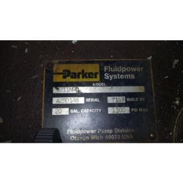 PARKER FLUID SYSTEMS 20 Gallon Hydraulic Tank w/ Pump & 10HP BALDOR MOTOR