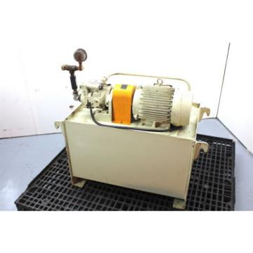 Daikin 5hp Hydraulic Unit V38A2R-95 Piston Pump 42.3 Gallon Tank Press Comp.