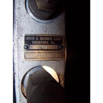 NEW JOHN S BARNES 1 HP HYDRAULIC PUMP POWER UNIT 111-219  3450 RPM 208-230/460V