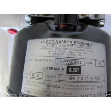 OLEODINAMICA REGGIANA HYDRAULIC PUMP TPM39860014 NEW