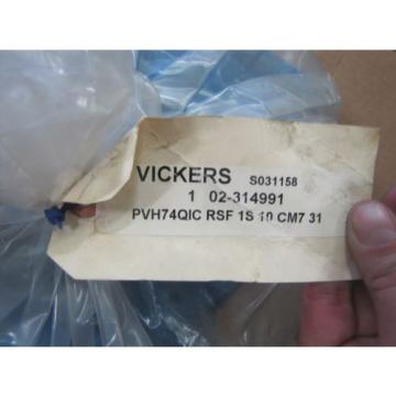 VICKERS HYDRAULIC OIL PISTON PUMP PVH74QIC RSF 1S 10 CM7 31 02-314991