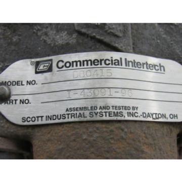"Commercial Intertech I-43091-96 D80415 Multiple Unit Hydraulic Pump 7/8"" Shaft"