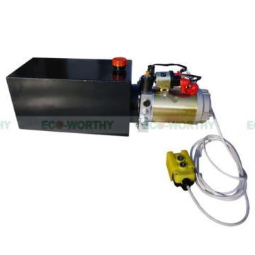 10 Quart Single Acting Dump Trailer Hydraulic Pump+Metal Reservior Fit for Lift