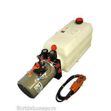 Dump Trailer Hydraulic Power Unit Double Acting 12v 8qt tank