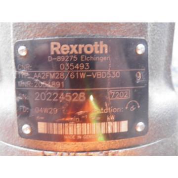 Rexroth Hydraulic Motor AA2FM28/61W-VBD530 MNR 2054891