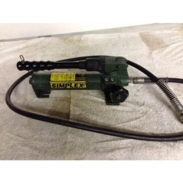 Simplex P 22 10,000 PSI 2 Stage  Hydraulic Pump w/ 6' hose Enerpac