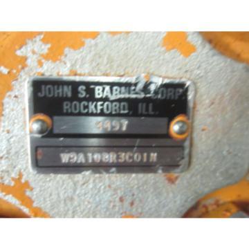 NEW HALDEX BARNES HYDRAULIC PUMP W9A108R3C01N