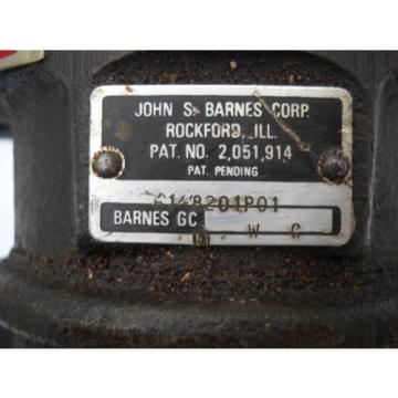 "JOHN S BARNES CORP TRIPLE HYDRAULIC PUMP 6148201P01 WITH 3/4"" ROUND SHAFT"