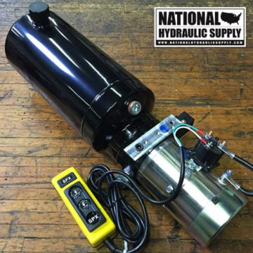 SPX Stone/Fenner 12VDC Single Acting Hydraulic Power Unit,Pump,Dump Trailer,Lift