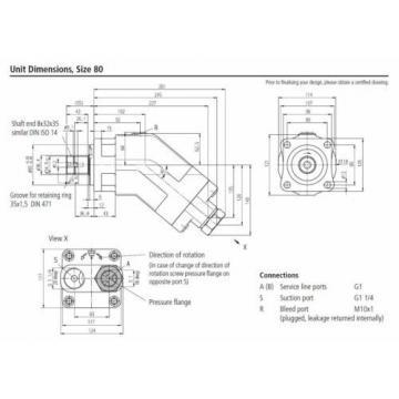 REXROTH hydraulic pump A17FO080/10NLWK0E81-0 R902162396