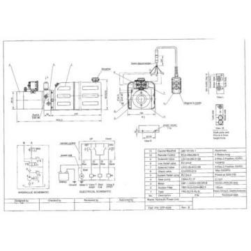 4208C Dump Trailer Hydraulic Power Unit,12V Double Acting,8L Metal Tank, OEM qua