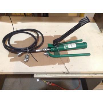 Greenlee 1725 Hydraulic Foot Pump With 10' Hydraulic Hose