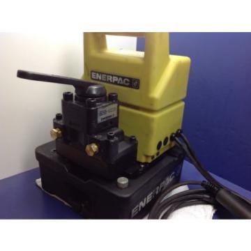 Enerpac PUJ-1400B Hydraulic Electric Pump Valve 4 Way 3 POS Double Acting Pump